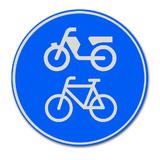 Verkeersbord G12a - Verplicht fiets/bromfietspad