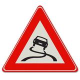 Verkeersbord J20 - Waarschuwing voor slipgevaar
