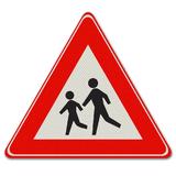 Verkeersbord J21 - Pas op voor kinderen