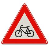 Verkeersbord J24- Waarschuwing voor fietsers en bromfietsers