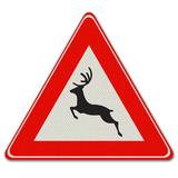 Verkeersbord J27 - Waarschuwing voor groot wild