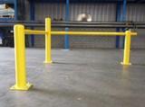 Doorrijbeveiliging rond 60 in 114 op betonvloer