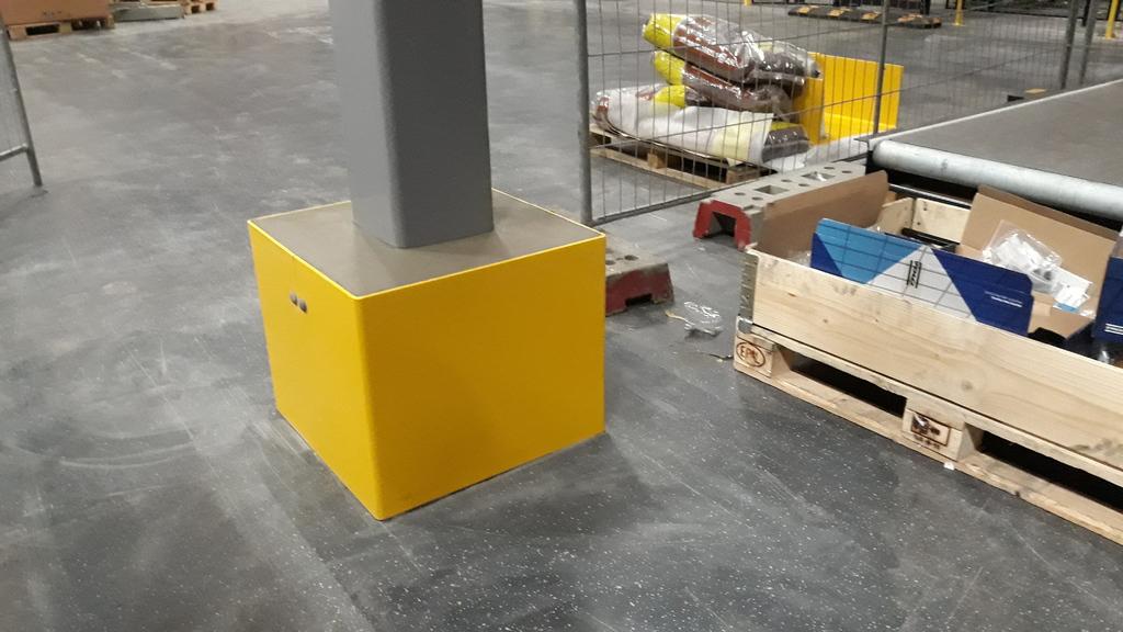 Kolombeschermer vierkant (staal)