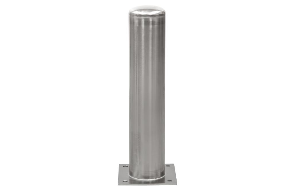 RVS Afschermpaal 156x2,9x750 mm. op betonvloer kw.304