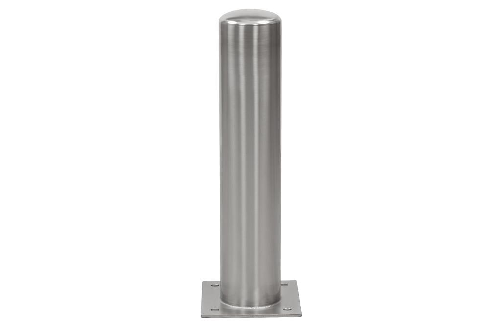 RVS Afschermpaal 156x2,9x750 mm. op betonvloer kw.316