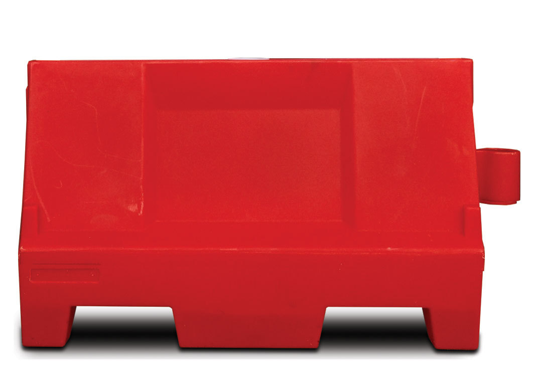 Kunststof barriers l=1000 mm.,  h=550 mm., Rood