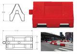 Kunststof barriers l=1000 mm.,  h=550 mm., Wit