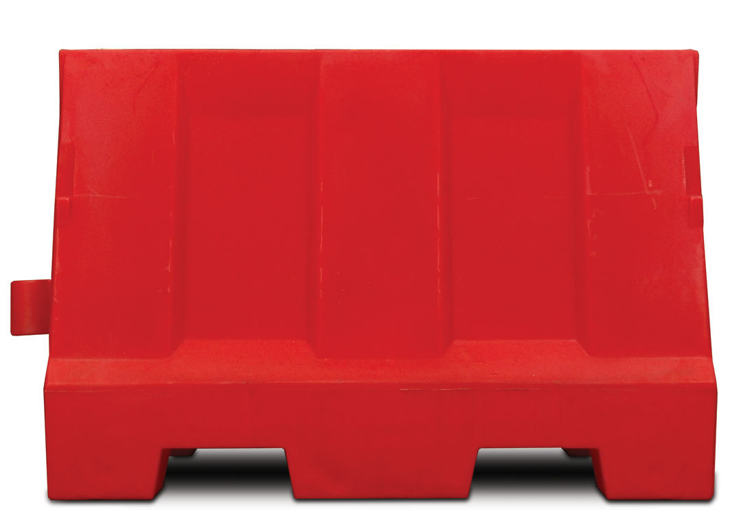 Kunststof barriers l=1200 mm.,  h=800 mm., Rood