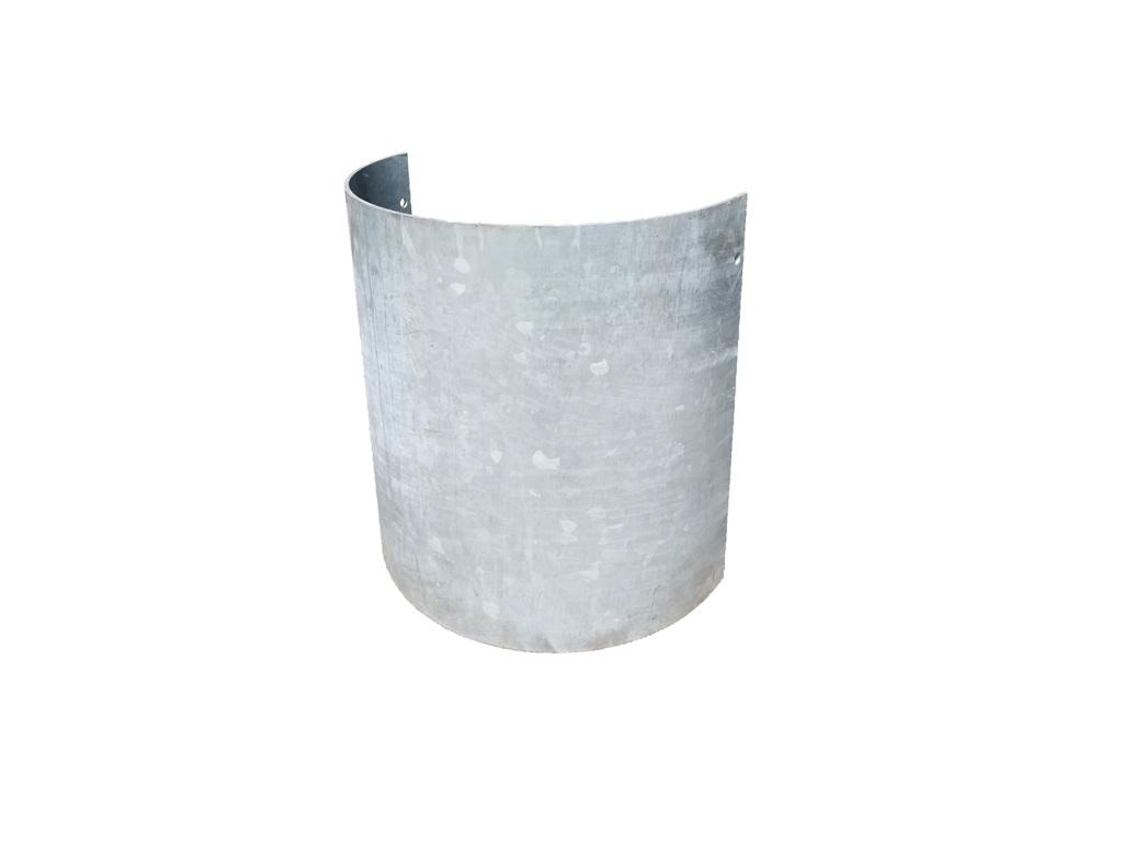 Halve kolombeschermer rond 500 hoog 750, dik 6 mm. verzinkt