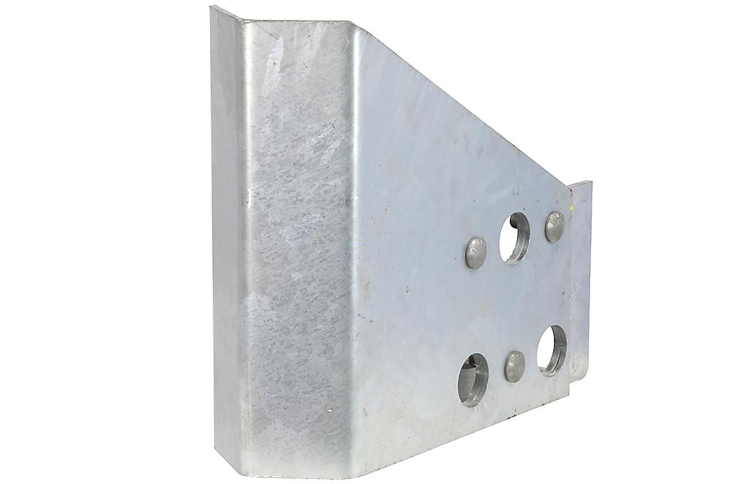 Robuuste stellingpootbeschermer top+grondstuk