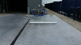 Doorrijbeveiliging rond 114 op 88,9 met voetplaat | lang 1000mm. | hoog 200 mm.