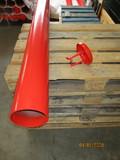 Afschermpaal Ø159x2000mm Aardebaan Rood met losse deksel (6 stuks)