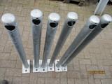 Leuningstaander Ø60 lengte 1030mm op Voetplaat vv Gat (6 stuks)