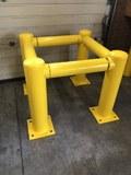 Kolombeschermer Aanrijdbeveiliging Ø159x750mm Kleur Geel